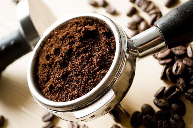 Mleté kávové zrna