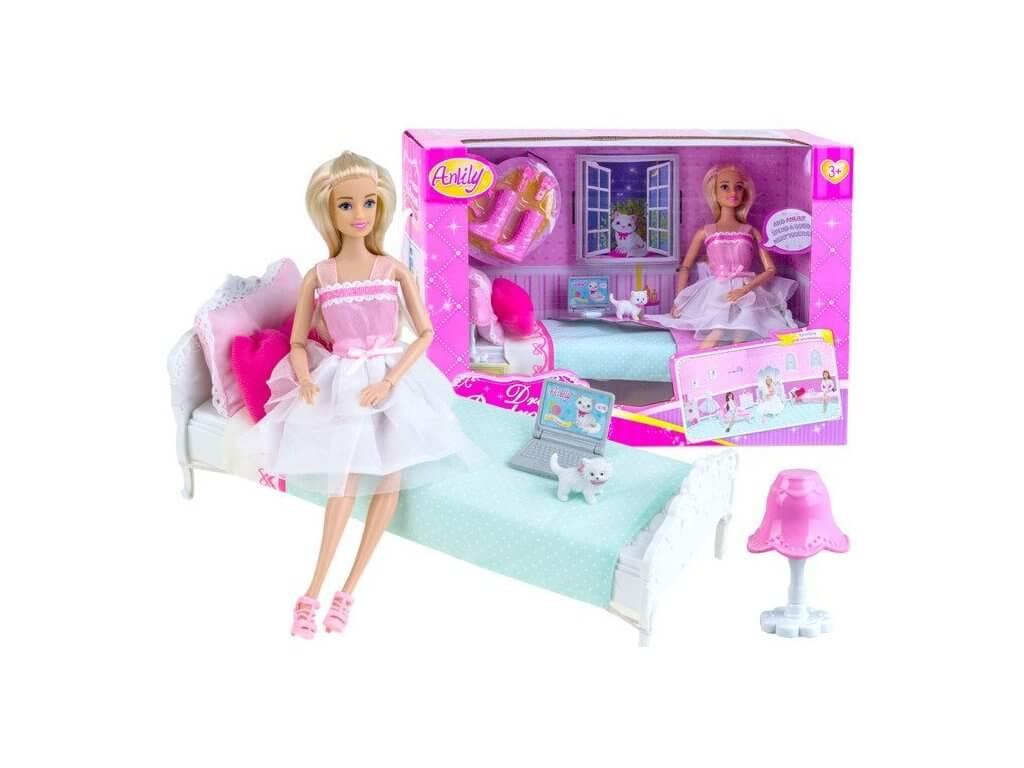 Panenka Anlily s doplňky ložnice